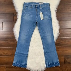 AG The Jodi High Rise Slim Flare Crop Jeans